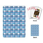 Blue plaid pattern Playing Card