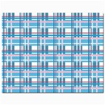 Blue plaid pattern Jewelry Bags