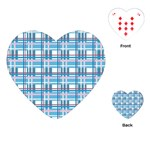 Blue plaid pattern Playing Cards (Heart)