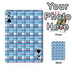Blue plaid pattern Playing Cards 54 Designs