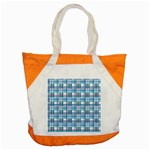 Blue plaid pattern Accent Tote Bag
