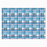 Blue plaid pattern Large Glasses Cloth (2-Side)