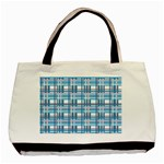 Blue plaid pattern Basic Tote Bag (Two Sides)