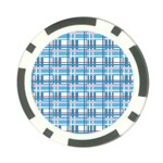 Blue plaid pattern Poker Chip Card Guards