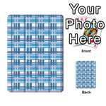 Blue plaid pattern Multi-purpose Cards (Rectangle)