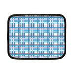 Blue plaid pattern Netbook Case (Small)