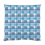 Blue plaid pattern Standard Cushion Case (Two Sides)