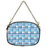 Blue plaid pattern Chain Purses (Two Sides)