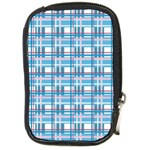Blue plaid pattern Compact Camera Cases