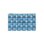 Blue plaid pattern Cosmetic Bag (Small)