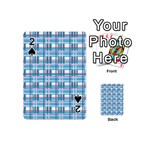 Blue plaid pattern Playing Cards 54 (Mini)