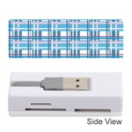 Blue plaid pattern Memory Card Reader (Stick)