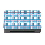 Blue plaid pattern Memory Card Reader with CF