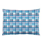 Blue plaid pattern Pillow Case (Two Sides)