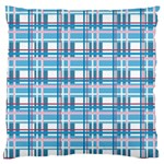 Blue plaid pattern Large Cushion Case (Two Sides)