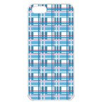 Blue plaid pattern Apple iPhone 5 Seamless Case (White)