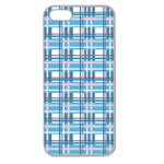 Blue plaid pattern Apple Seamless iPhone 5 Case (Clear)