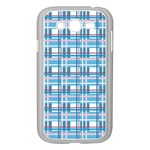 Blue plaid pattern Samsung Galaxy Grand DUOS I9082 Case (White)
