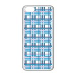 Blue plaid pattern Apple iPhone 5C Seamless Case (White)