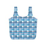 Blue plaid pattern Full Print Recycle Bags (S)