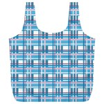 Blue plaid pattern Full Print Recycle Bags (L)