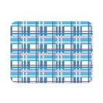 Blue plaid pattern Double Sided Flano Blanket (Mini)