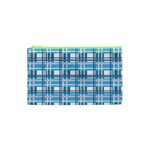 Blue plaid pattern Cosmetic Bag (XS)