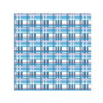 Blue plaid pattern Small Satin Scarf (Square)