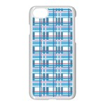 Blue plaid pattern Apple iPhone 7 Seamless Case (White)