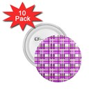 Purple plaid pattern 1.75  Buttons (10 pack)