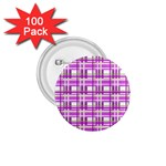 Purple plaid pattern 1.75  Buttons (100 pack)