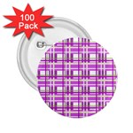 Purple plaid pattern 2.25  Buttons (100 pack)