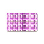 Purple plaid pattern Magnet (Name Card)