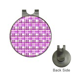 Purple plaid pattern Hat Clips with Golf Markers