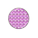 Purple plaid pattern Hat Clip Ball Marker (4 pack)