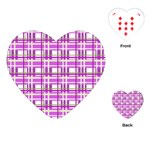 Purple plaid pattern Playing Cards (Heart)