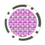 Purple plaid pattern Poker Chip Card Guards