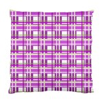 Purple plaid pattern Standard Cushion Case (Two Sides)
