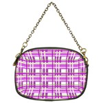 Purple plaid pattern Chain Purses (Two Sides)