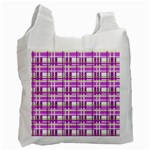 Purple plaid pattern Recycle Bag (Two Side)