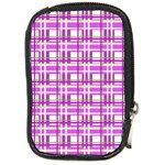 Purple plaid pattern Compact Camera Cases