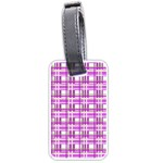 Purple plaid pattern Luggage Tags (Two Sides)