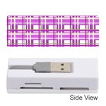 Purple plaid pattern Memory Card Reader (Stick)