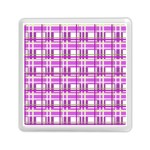Purple plaid pattern Memory Card Reader (Square)