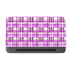 Purple plaid pattern Memory Card Reader with CF