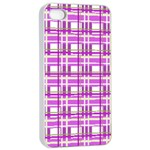 Purple plaid pattern Apple iPhone 4/4s Seamless Case (White)
