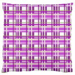Purple plaid pattern Large Cushion Case (Two Sides)
