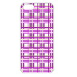 Purple plaid pattern Apple iPhone 5 Seamless Case (White)