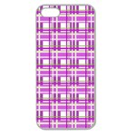 Purple plaid pattern Apple Seamless iPhone 5 Case (Clear)