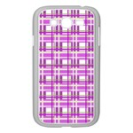 Purple plaid pattern Samsung Galaxy Grand DUOS I9082 Case (White)